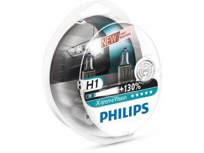 Par žarnic Philips 12V H1 55W X-treme vision