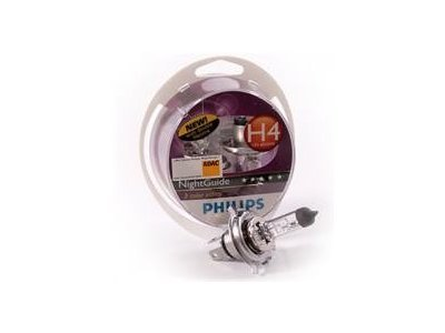 Par žarnic Philips 12V H4 60/55W Night Guide
