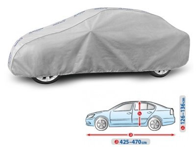 Pokrivalo za avto Kegel Grey L Sedan, 425-470cm
