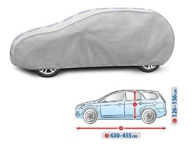 Pokrivalo za avto Kegel Grey L2 Hatchback/Caravan, 430-455cm
