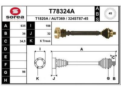 Polosovina (spredaj, levi) T58233 - Opel Agila 00-08 (samo po naročilu)