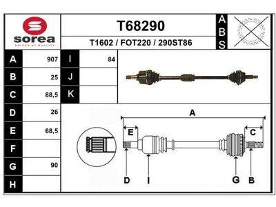 Polosovina T68290 - Ford Escort 95- (samo po naročilu)