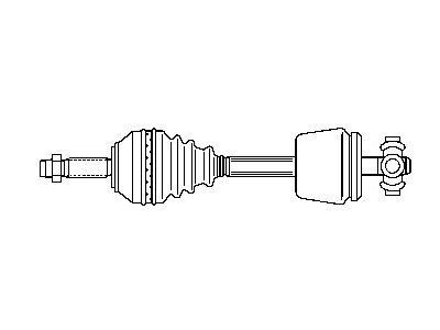 Poluosovina (prednja, leva) VKJC8059 -  Renault Safrane 92-00 (samo po porudžbini)