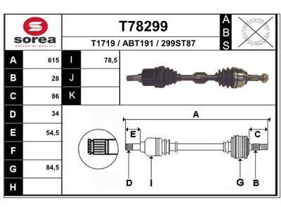Poluosovina Rover 75 99-05