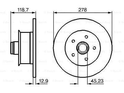 Prednja diskovi kočnica  BS0986478136 - Volkswagen Transporter 80-92
