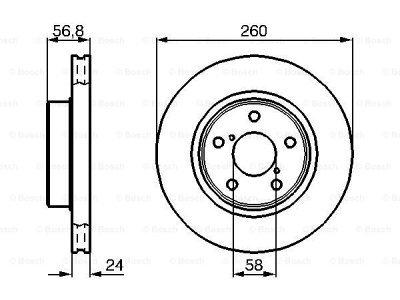 Prednja diskovi kočnica  BS0986478293 - Subaru Impreza 93-13