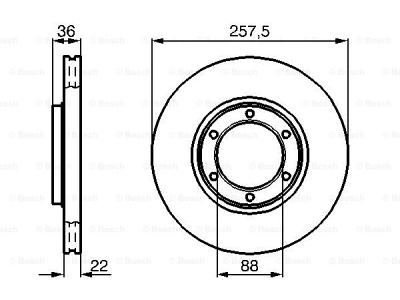 Prednja diskovi kočnica  BS0986478596 - Opel Campo 91-