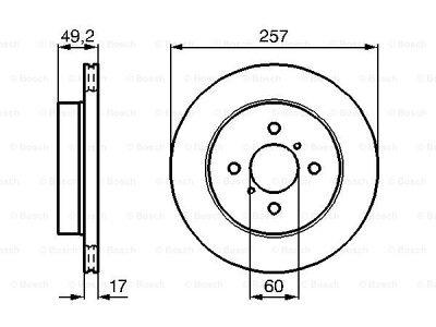 Prednja diskovi kočnica  BS0986478984 - Suzuki Ignis 00-08