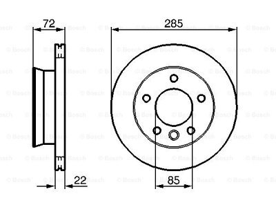 Prednja diskovi kočnica  BS0986479212 - Mercedes-Benz Sprinter -00-06