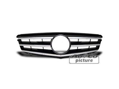 Prednja maska Mercedes-Benz C W203 / W204 07- crna/hrom