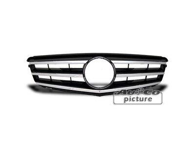 Prednja maska Mercedes-Benz C W203 / W204 07-> crna/krom
