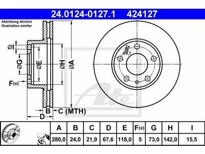 Prednje disk kočnice 24.0124-0239.2 - BMW Serije 5 10-17