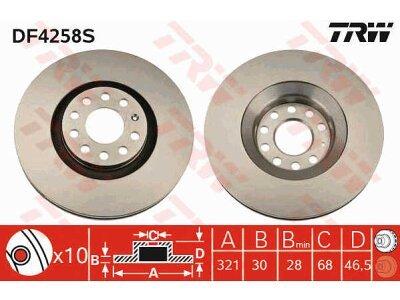 Prednje disk kočnice DF4258S  - Audi A4 97-09