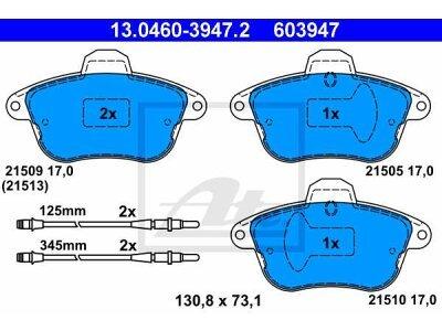 Prednje i zadnje kočione obloge 13.0460-3947.2 - Renault Clio 98-