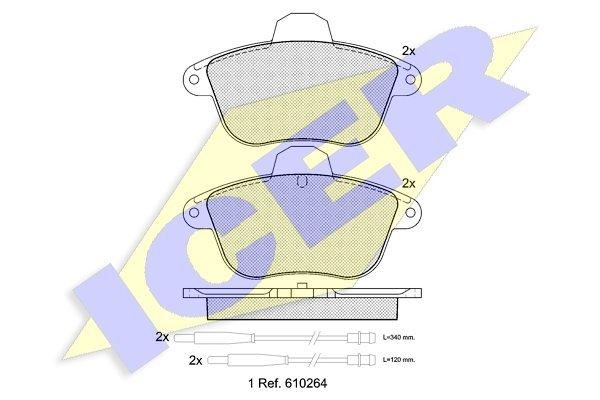 Prednje i zadnje kočione obloge IE180856 - Renault Clio 98-