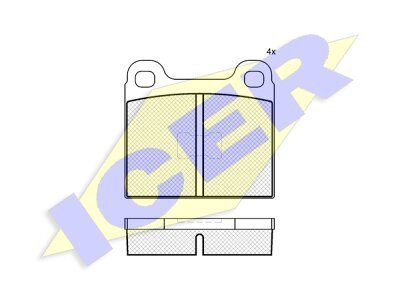 Prednje ili stražnje kočione obloge IE180169 - Audi, Volkswagen