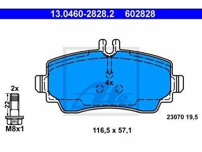 Prednje kočione obloge 13.0460-2828.2 - Mercedes-Benz Vaneo 02-05