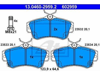 Prednje kočione obloge 13.0460-2959.2 - Chrysler PT Cruiser 00-10