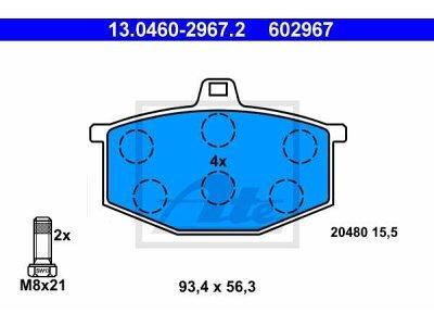 Prednje kočione obloge 13.0460-2967.2 - Renault 5 72-85