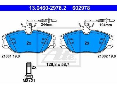 Prednje kočione obloge 13.0460-2978.2 - Citroen, Fiat, Peugeot