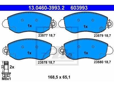 Prednje kočione obloge 13.0460-3993.2 - Ford Transit 01-06