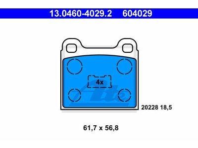 Prednje kočione obloge 13.0460-4029.2 - Renault Laguna 94-01