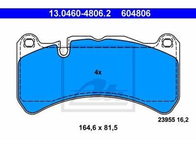 Prednje kočione obloge 13.0460-4806.2 -  Mercedes-Benz SLK-Klasa, CLK