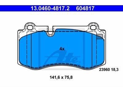 Prednje kočione obloge 13.0460-4817.2 - Mercedes-Benz CLS-Klasa, S