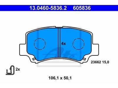Prednje kočione obloge 13.0460-5836.2 - Suzuki Wagon R+ 97-00