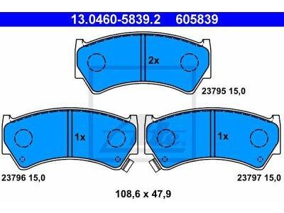Prednje kočione obloge 13.0460-5839.2 - Suzuki Baleno 95-02