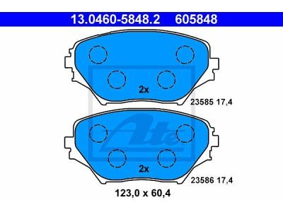 Prednje kočione obloge 13.0460-5848.2 - Toyota Rav4 00-06