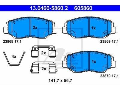 Prednje kočione obloge 13.0460-5860.2 - Honda CRV 02-06