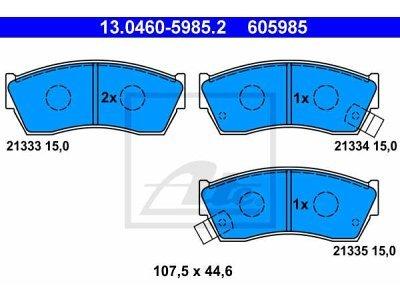 Prednje kočione obloge 13.0460-5985.2 - Subaru, Suzuki