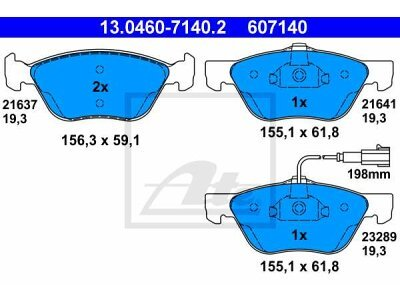 Prednje kočione obloge 13.0460-7140.2 - Alfa Romeo 147 01-10