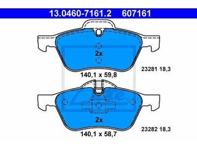 Prednje kočione obloge 13.0460-7161.2 - Mini