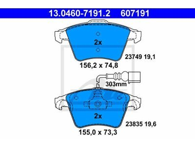 Prednje kočione obloge 13.0460-7191.2 - VW Touareg 02-10