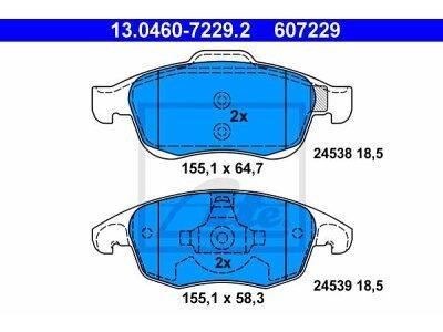 Prednje kočione obloge 13.0460-7229.2 - Citroen, Peugeot