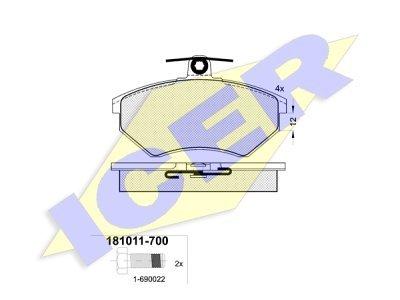 Prednje kočione obloge 42264 - Audi, Seat