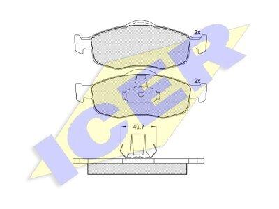 Prednje kočione obloge 43087 - Ford