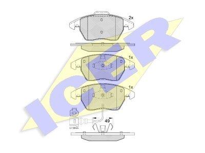 Prednje kočione obloge 61546 - Audi, Skoda, Seat, VW