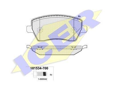 Prednje kočione obloge 61606 - Dacia, Renault