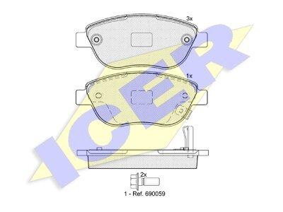 Prednje kočione obloge 80620 - Opel