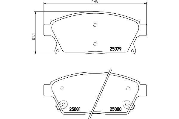 Prednje kočione obloge - Chevrolet Cruze 09-14