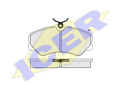 Prednje kočione obloge FO622081 - Fiat