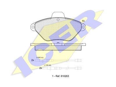Prednje kočione obloge IE180921 - Citroen Xantia
