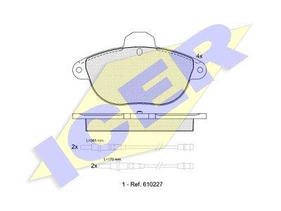 Prednje kočione obloge IE181154 - Citroen Xantia 93-03