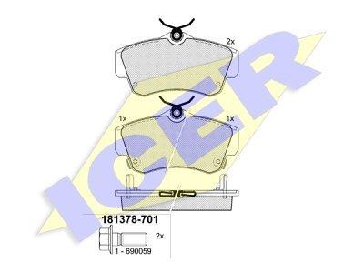 Prednje kočione obloge IE181378-701 - Chrysler PT Cruiser 00-10