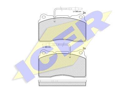 Prednje kočione obloge IE181424 - Peugeot 607 00-