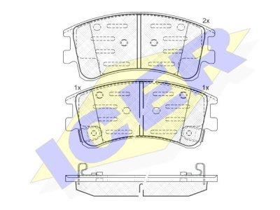 Prednje kočione obloge IE181578 - Mazda 6 02-08