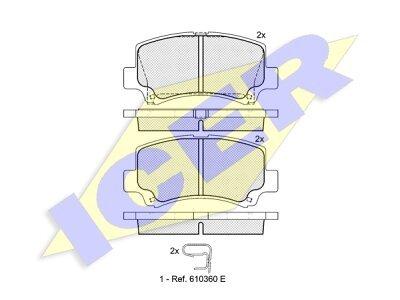 Prednje kočione obloge IE181589 - Suzuki Wagon R+ 97-00